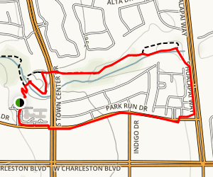 Summerlin Cottonwood Canyon Park Loop Map