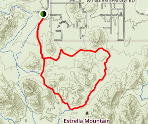 Butterfield and Gadsden Trail Loop Map