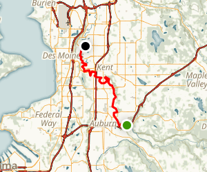 Green River: Auburn to Kent, Middle Reach Map