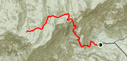Signal Peak via Oak Grove Trail Map