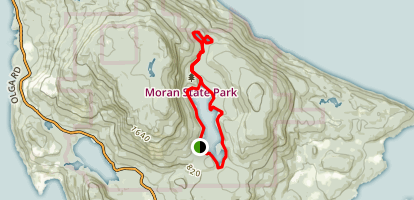 Mountain Lake and Twin Lakes Trail Map
