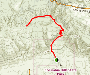 Dalles Mountain Trail Map