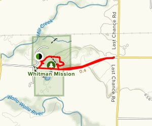 Whitman Mission Map