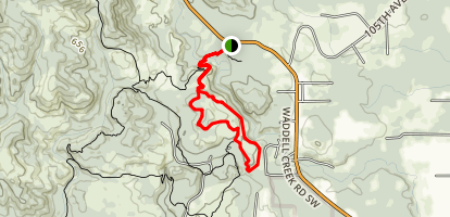 Middle Waddell Loop Map