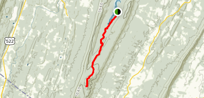 The Tuscarora Trail from Sleepy Creek Lake Map