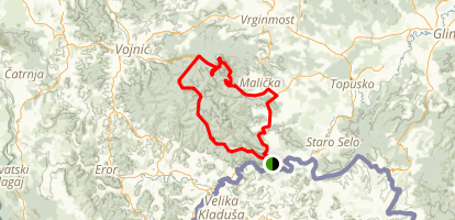 Veliki Petrovac Loop Trail Map