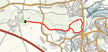 Kislingbury to Upton Loop Map