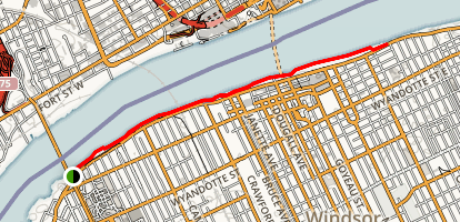 Windsor Riverfront Trail Map