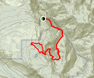 Vanson Peak Trail Via Goat Creek Trail Loop Map