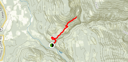 Blue Mountain Logging Road - South Map