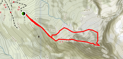 North Twin: West Ridge Map
