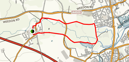 Kislingbury Lakes Loop Map
