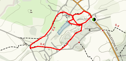 Harlestone Loop Map