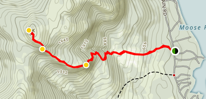 Ledges Trail to Pleasant Mountain Map