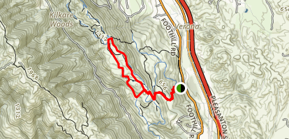 Olive and Thermalito Trail Loop Map