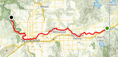 Spokane River Centennial Trail Map