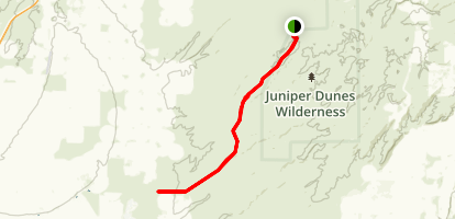 Juniper Dunes Wilderness Area Map