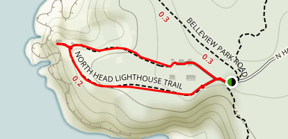 Northhead Lighthouse Loop Trail Map