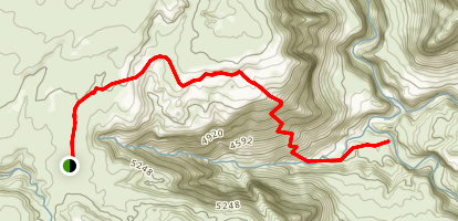 Sundance Trail to Dark Canyon Map