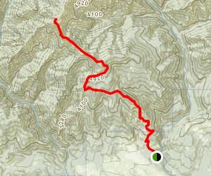 Elbow Peak Via Yellow Hill Trail Map
