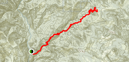 Three Corner Rock Trail (CLOSED) Map