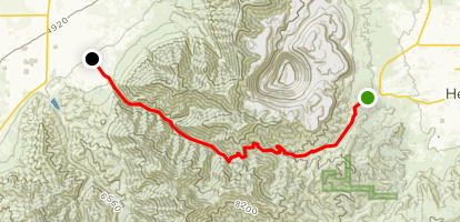 Middle Canyon Road Drive Map