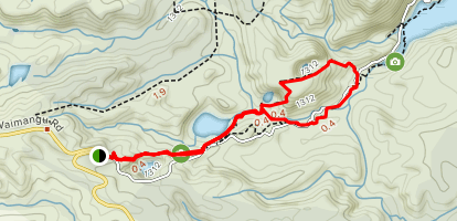 Waimangu Thermal Valley Loop Map