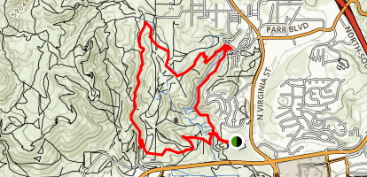Evans Canyon Trail to Keystone Canyon Trail Loop Map
