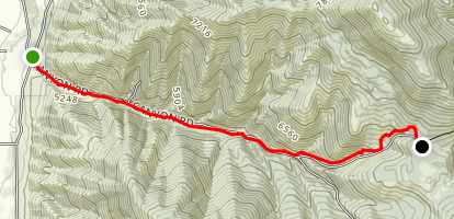 Millville Canyon Road Trail Map