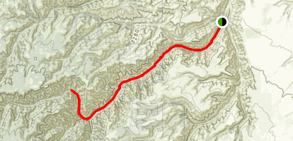North Fork Asotin Creek Trail Map