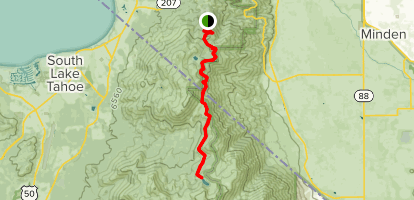 Tahoe Rim Trail: Daggett Pass to Star Lake Map