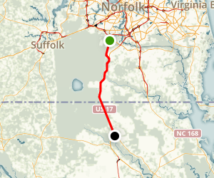 Dismal Swamp Canal via US 17 Map