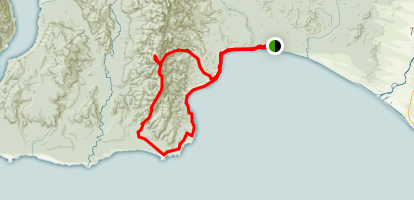 Hump Ridge Track Map