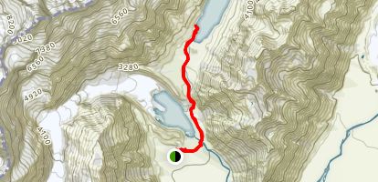 Hooker Valley Track to Hooker Lake Map