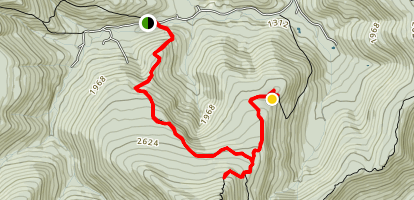 Terrace Mountain and Shelter Trail Map