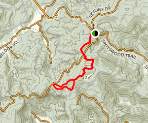 Hightop Peak Loop via Appalachian Trail Map
