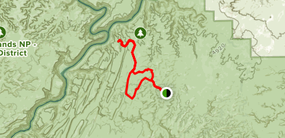 Confluence Overlook and Elephant Hill Trail Loop Map