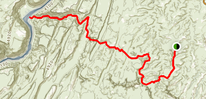 Lower Red Lake Canyon Trail Map