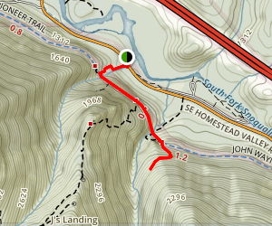 Deception Crags  Trail Map