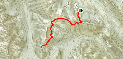 Grasshopper Pass via the PCT Map