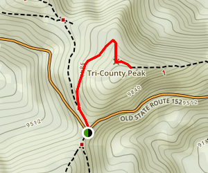 Tri-County Peak Trail Map