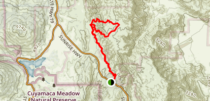 Mason Valley via Sunrise Highway Map