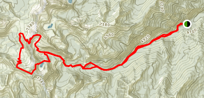 Foggy Dew Creek, Merchants Basin, and Sunrise Lake Loop Trail  Map