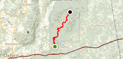 Pinhoti Trail: Cleburne to Coleman Lake Map