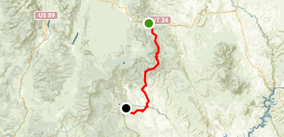 Boulder Mountain Highway Map