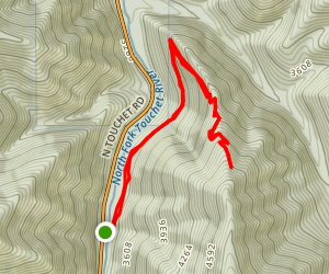 Middle Point Trail to Ski Bluewood Map