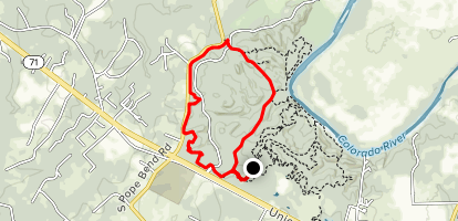 Youpon to Coyote Road Loop Map
