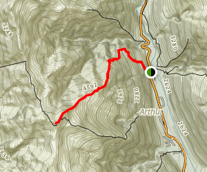 Avalanche Peak Map