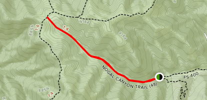 Nogal Canyon Trail Map