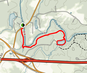 Laurel Bluffs Trail to Eno Quarry Map